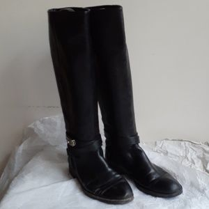 Coach Tall Riding Harness Boots 8